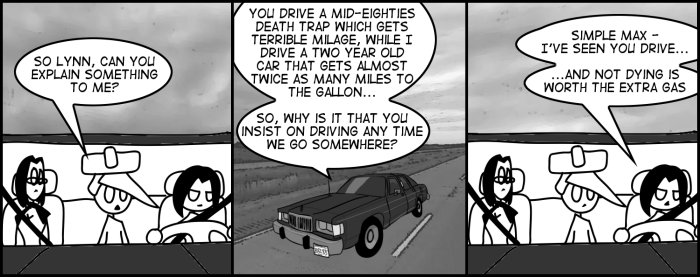 No this comic wasn't just an excuse to show Lynn's car, I swear.